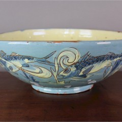 C H Brannam Barum Barnstaple Studio Arts & Crafts Pottery Large Fish Bowl 1893