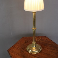 Edwardian brass table lamp