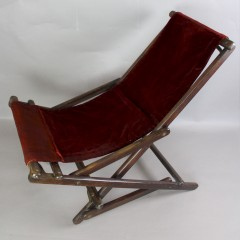 Interesting late C19th Campaign rocking chair