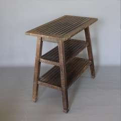 Teak table by Castles reclaimed ships timber