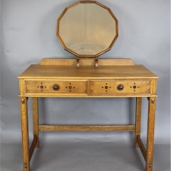 Cotswold School oak dressing table in the manner of Heals