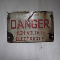 Danger sign from Southern electric