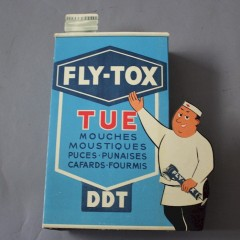 French folding advert for DDT fly killer
