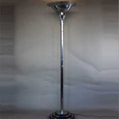 Good art deco English 1930's chrome uplighter