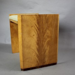 Art Deco satinwood veneered stool