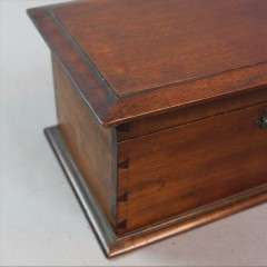 Arts and Crafts mahogany casket