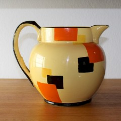 Art Deco Edna Best for Lawleys geometric hand painted jug