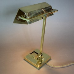 Elegant brass Art Deco adjustable desk lamp c1930