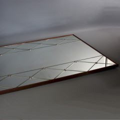 Classic stylish 1950's etched mirror