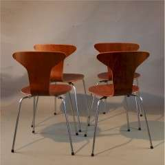 Set of four Mosquito chairs by Arne Jacobsen