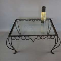French iron coccasional table c1950