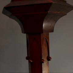 Floor lamp in the Gothic style in mahogany