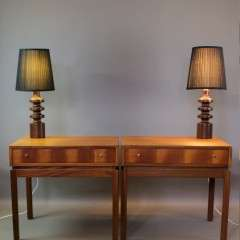 Pair of Teak mid century bedside cabinets by Greaves and Thomas
