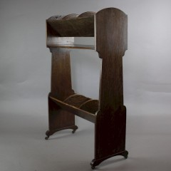 Ambrose Heal arts and crafts book trough in oak c1900