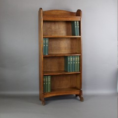 Heals arts and crafts oak open bookcase