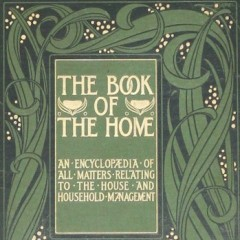 Set of four books with arts and crafts covers. The Book of the Home