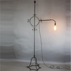 Decorative iron floor lamp