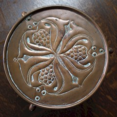 Keswick School arts and crafts copper trivet