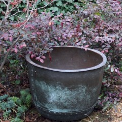 Larger antique garden Copper Copper, planter / log bin