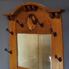 Glasgow School arts and crafts oak maiden hallstand