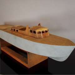 model of a barge c1960's