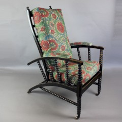William Morris type adjustable reclining arts and crafts armchair