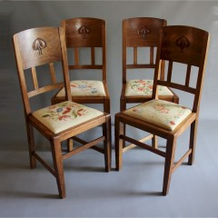Arts and crafts chairs by W.J Neatby