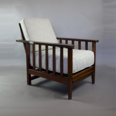 Oak arts and crafts armchair. C1900