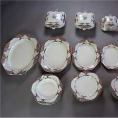Large Crown Ducal Orange Tree dinner set c1920's/30's