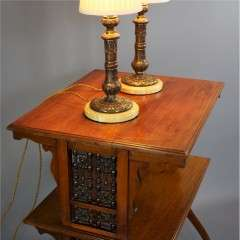 Pair of Empire style table lamps