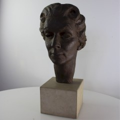 1950's Plaster figure of a woman's head