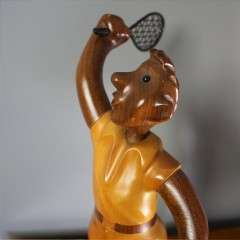 Romer Italian carved figure of a tennis player