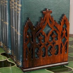 Victorian rosewood desk top bookslide