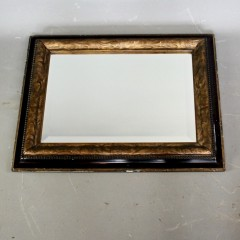Rowley Gallery gilt and ebonised decorative framed mirror