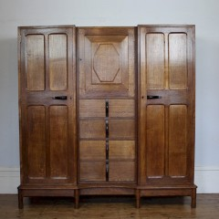 Cotswold School three section wardrobe c1928 by Gordon Russell