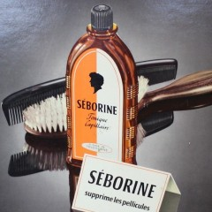 French hairdressng advert 50's Seborine