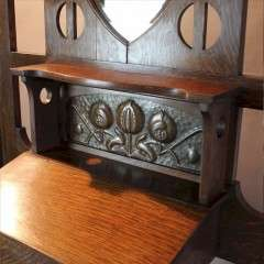 Shapland and Petter arts and crafts oak hall stand