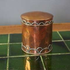 Arts and crafts copper tea caddy,