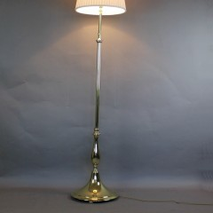 Edwardian brass standard / Floor lamp