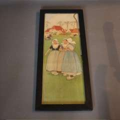 An arts and crafts nursery lithograph by H Cassiers