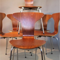 Set of six Mosquito chairs by Arne Jacobsen