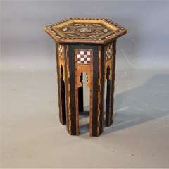 Small Moorish Liberty & Co inlaid table
