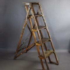 Vintage oak decorators step ladder c1930's