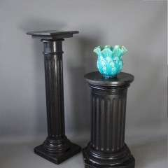 Victorian Ebonised fluted column