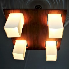 Mid Century Teak ceiling light