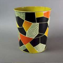 1960's abstract waste paper bin by Worcester Ware