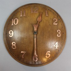 Large oak domed wall clock by Zenith for Heals 1930's