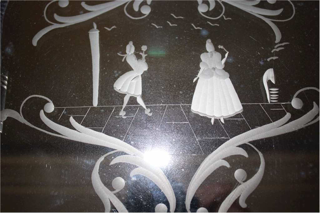 Vintage Venetian mirrored dressing table tray c1940's